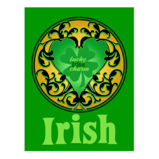 St. Patrick's Heart Lucky Charm Postcard