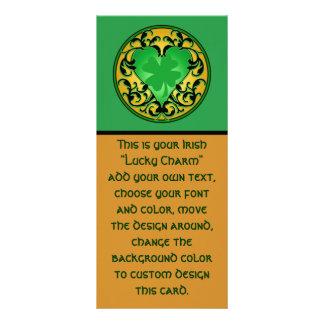 St. Patrick's Heart Lucky Charm Customised Rack Card
