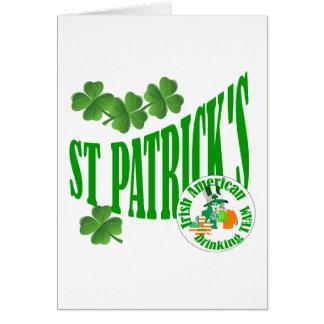 St patrick's Irish American Greeting Card