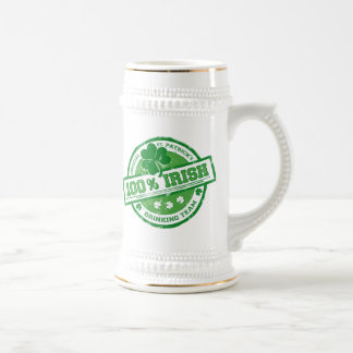 St. Patrick's Irish Drinking Team funny stein