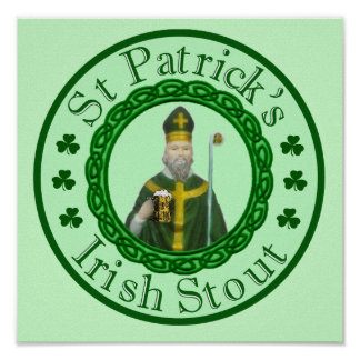 St. Patrick's Irish Stout Poster