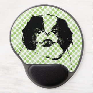 St Patricks - Japanese Chin Silhouette - Oreo Gel Mouse Pads