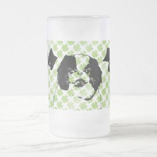 St Patricks - Japanese Chin Silhouette - Oreo Mug