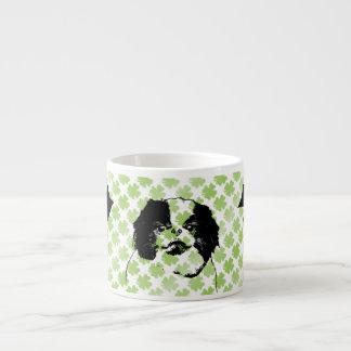St Patricks - Japanese Chin Silhouette - Oreo Espresso Mugs