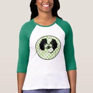 St Patricks - Japanese Chin Silhouette - Oreo T Shirts