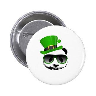 St. Patrick's Leprechaun Panda 6 Cm Round Badge