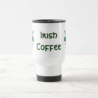 St. Patrick's Lucky Fleur de lis Stainless Steel Travel Mug