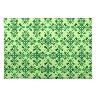 St. Patrick's Lucky Fleur de lis Placemats