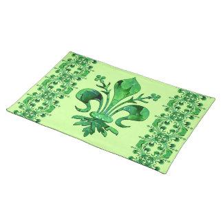 St. Patrick's Lucky Fleur de lis Placemats 2