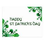 St. Patrick's Lucky Fleur de lis Postcard
