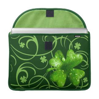 St. Patrick's Lucky Shamrocks Macbook Pro sleeve