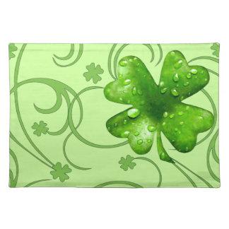 St. Patrick's Lucky Shamrocks placemats