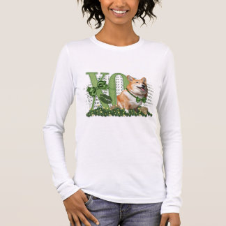 St Patricks - Me Lucky Charm - Corgi - Owen Long Sleeve T-Shirt