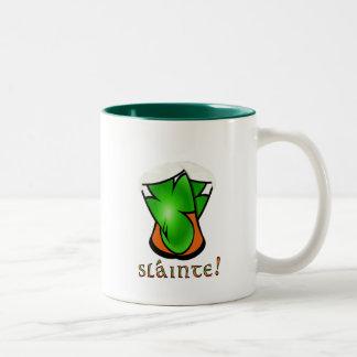 St. Patricks Optical Illusion Slante Pint Glasses Coffee Mug