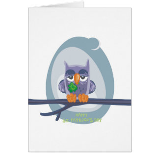 St. Patrick's Owl Greeting Card