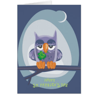 St. Patrick's Owl Greeting Card