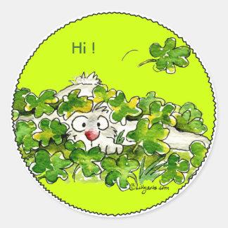 St. Patricks Peek A Boo Day Sticker