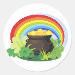 St. Patrick's Pot-o-Gold Round Sticker