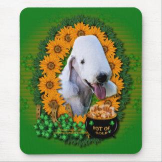 St Patricks - Pot of Gold - Bedlington Terrier Mouse Pad