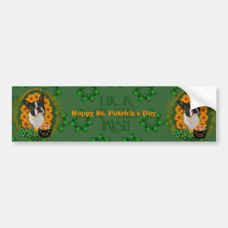 St Patricks - Pot of Gold - Boston Terrier Bumper Sticker