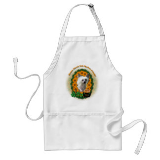 St Patricks - Pot of Gold - Chinese Crested -Kahlo Adult Apron
