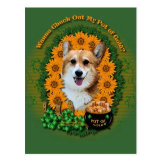 St Patricks - Pot of Gold - Corgi - Owen Postcard
