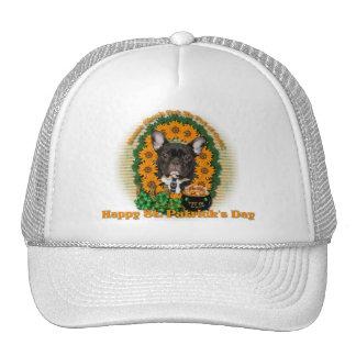 St Patricks - Pot of Gold - French Bulldog - Teal Trucker Hats