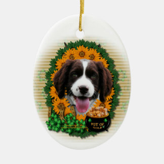 St Patricks - Pot of Gold -Springer Spaniel Baxter Ornaments