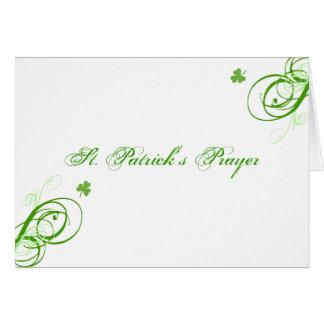 St. Patrick's Prayer Card