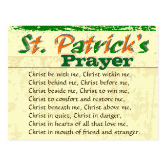 St. Patrick's Prayer, Christ Within Me Postcard