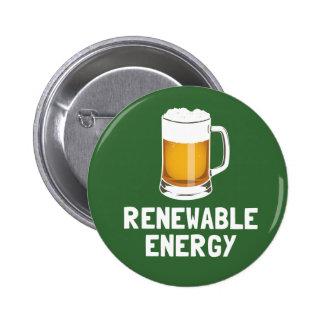 St. Patrick's Renewable Energy Beer 6 Cm Round Badge