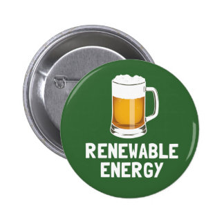 St. Patrick's Renewable Energy Beer 6 Cm Round Badge