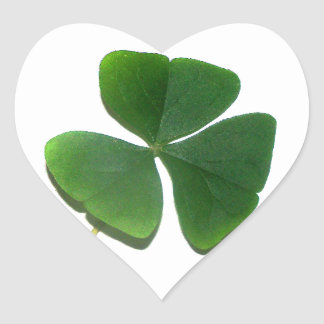 St. Patrick's Shamrock Heart Sticker