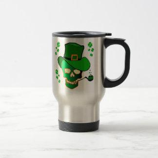 St Patricks Skull Coffee Mugs