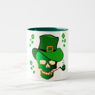 St. Patricks Skull Coffee Mugs