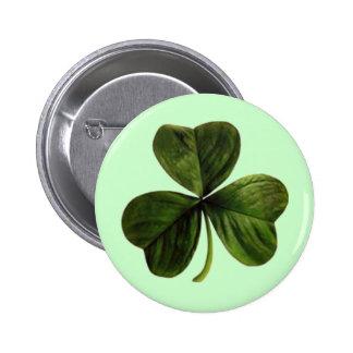 St. Patrick's Three Leaf Clover 6 Cm Round Badge