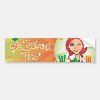 St. Patrick's Time Car Bumper Sticker