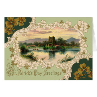 St. Patricks Vintage greeting card