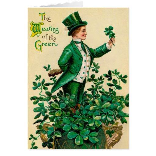 St. Patricks Vintage Irish greeting card