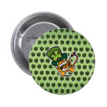 St Pat's Beer Monkey Pinback Buttons