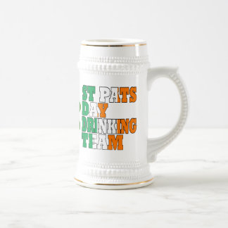 St Pats day drinking team Beer Steins