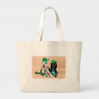 St Pats Day - GoldenDoodles - Sadie and Izzie Canvas Bags