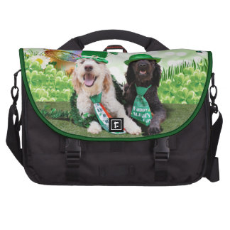 St Pats Day - GoldenDoodles - Sadie and Izzie Commuter Bag