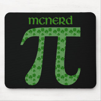 St. Pat's Day Pi Tees - McNerd - Great Gift Idea Mouse Pads