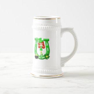 St Pat's Day Redhead Girl Leprechaun Coffee Mug