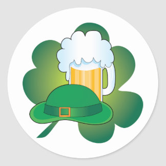 St Pats Hat Classic Round Sticker