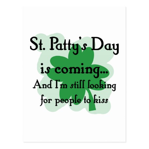 st patty looking post card