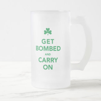 St Patty s Day - Get Bombed Carry On Coffee Mug