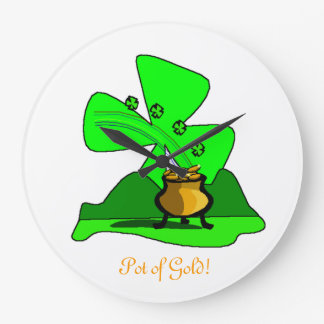 St Patty s Day Pot of Gold Clock