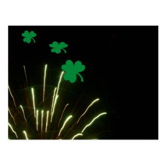 St Patty s Fireworks Postcard